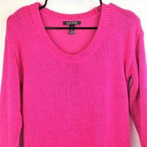 Lauren Ralph Lauren Womens Pink Sweater Small